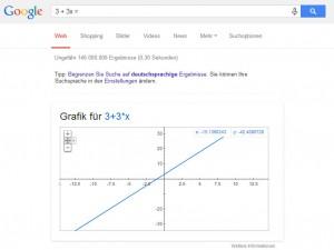 Rechnen mit Google