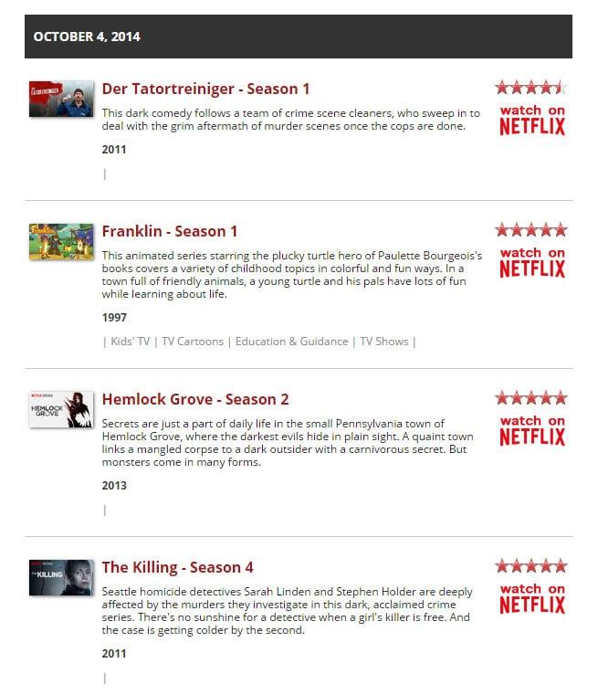 Netflix - Neue Filme und Serien anzeigen 1