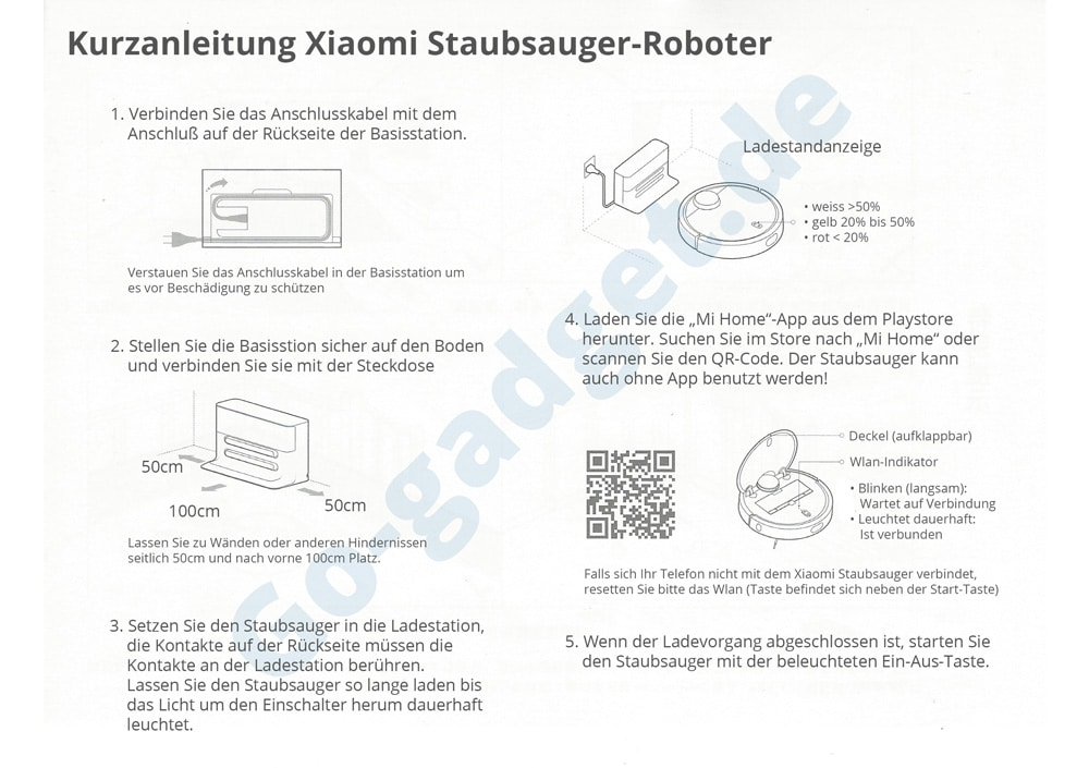 Anleitung Xiaomi Mi Staubsauger Roboter