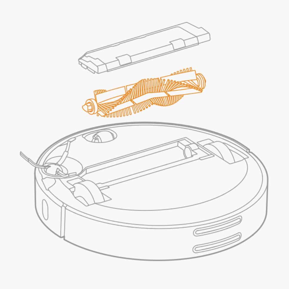 Xiaomi Staubsaugerroboter vordere Bürste