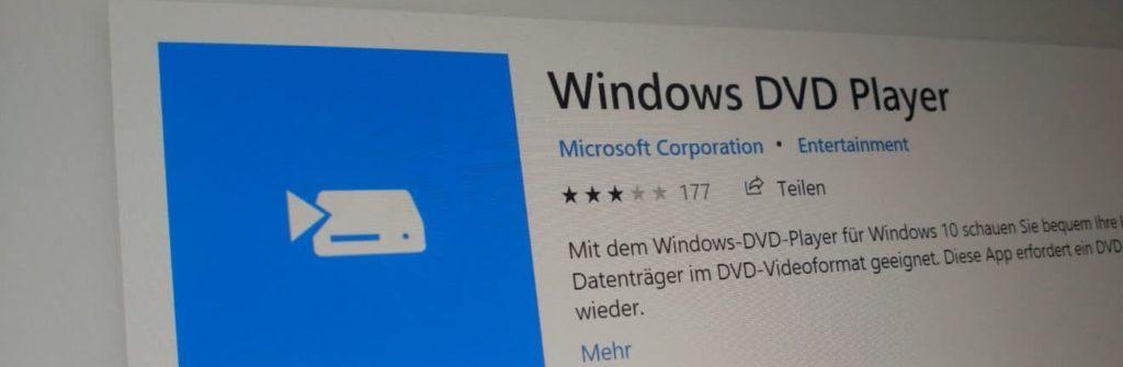 DVDs unter Windows 10 abspielen 1