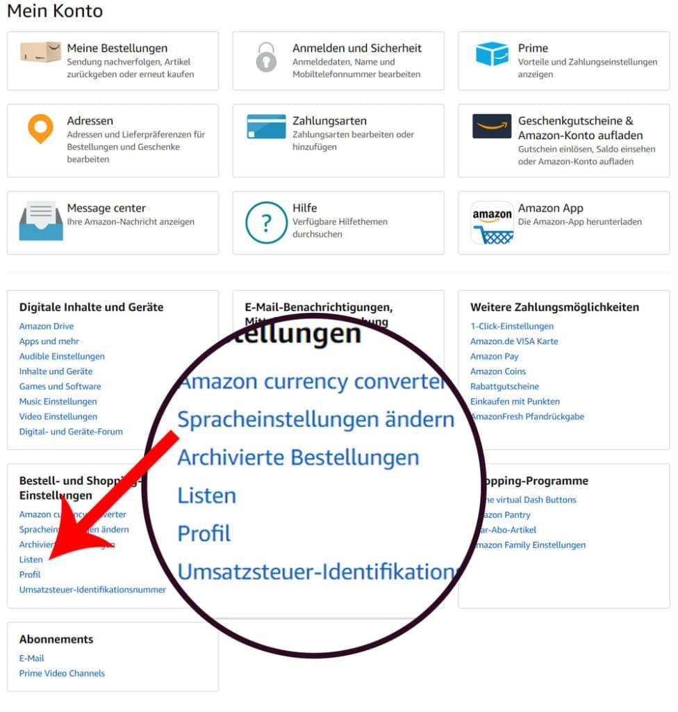 Amazon Profil Link - Direkt zum anklicken 1