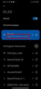 WLAN Einstellungen unter Android