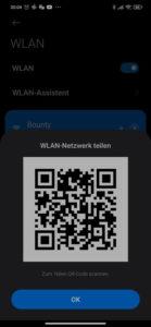 QR-Code mit WLAN Passwort unter Android anzeigen