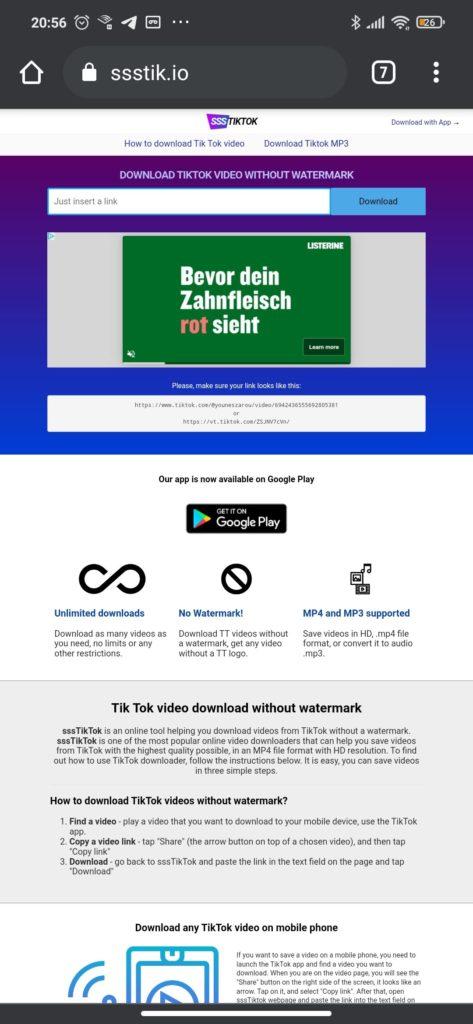 So geht´s TikTok Videos ohne Wasserzeichen downloaden 1